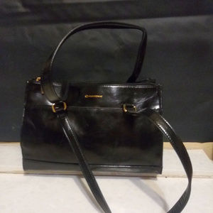 Giani Bernini Black Leather Double Handle Handbag